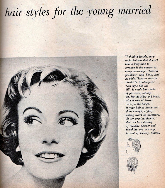 hair setting instructions vintage 1950s