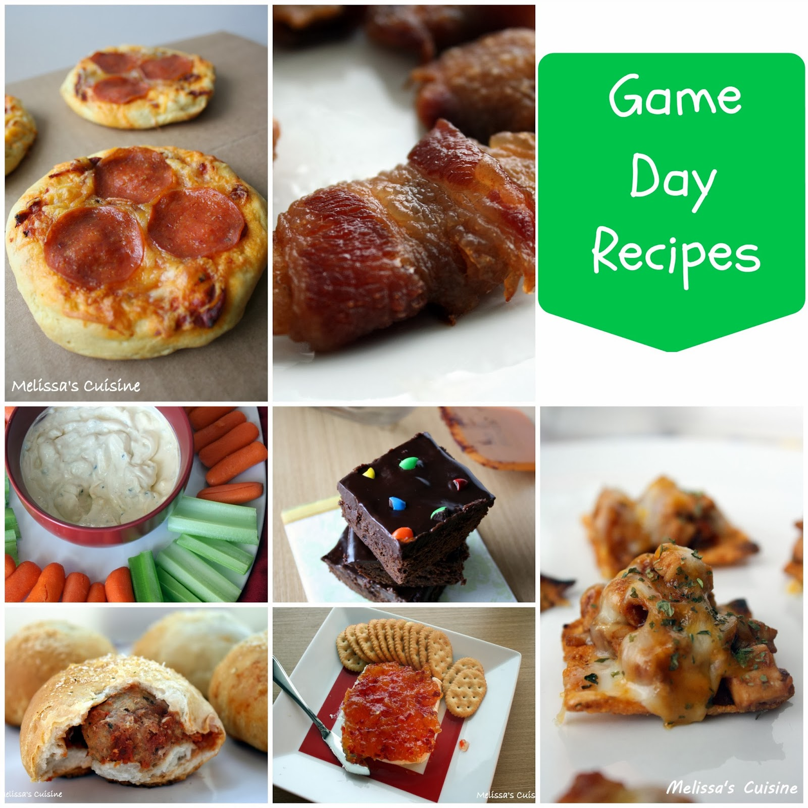 Melissa's Cuisine: Game Day Recipes