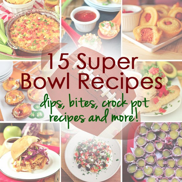 http://iowagirleats.com/2014/01/17/15-super-bowl-recipes-dips-bites-crock-pot-recipes-and-more/