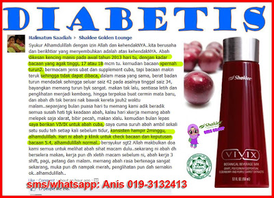 TESTIMONI VIVIX SHAKLEE DAN DIABETES