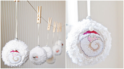 christmas, new year garland: snowballs