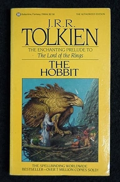 1982-edition-of-the-hobbit-eagle-gandalf-dwarves-bilbo-cover