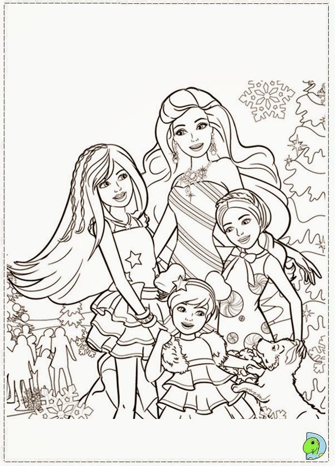 imagens da barbie um natal perfeito para colorir - Barbie em Um Natal Perfeito no Jogos Online de Menina