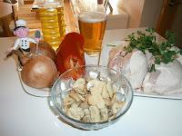 Pollo guisado a la cerveza (Muslos de pollo a la cerveza)
