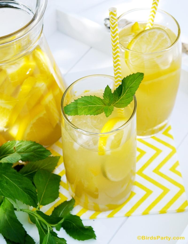 Recette: Tea Vert Glacé aux Agrumes sans Alcool