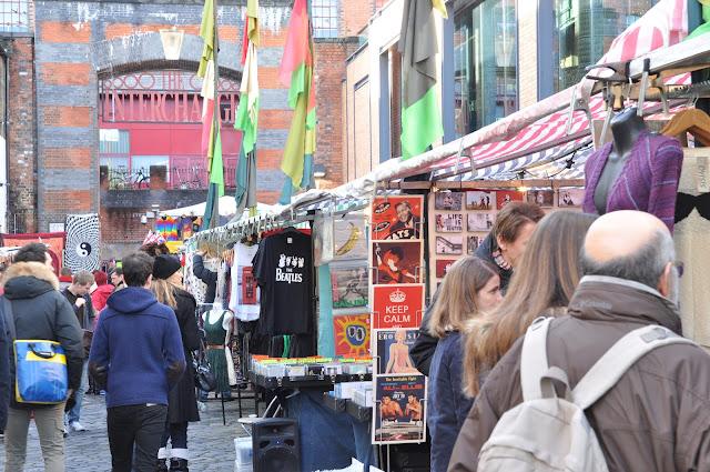 Camden Town Market Beatle shirt stall