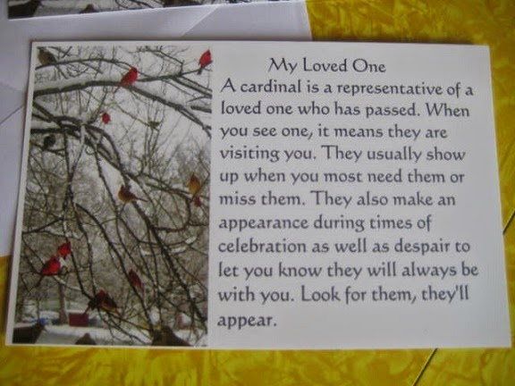 The recycled catholic a cardinal is a representative of a loved one