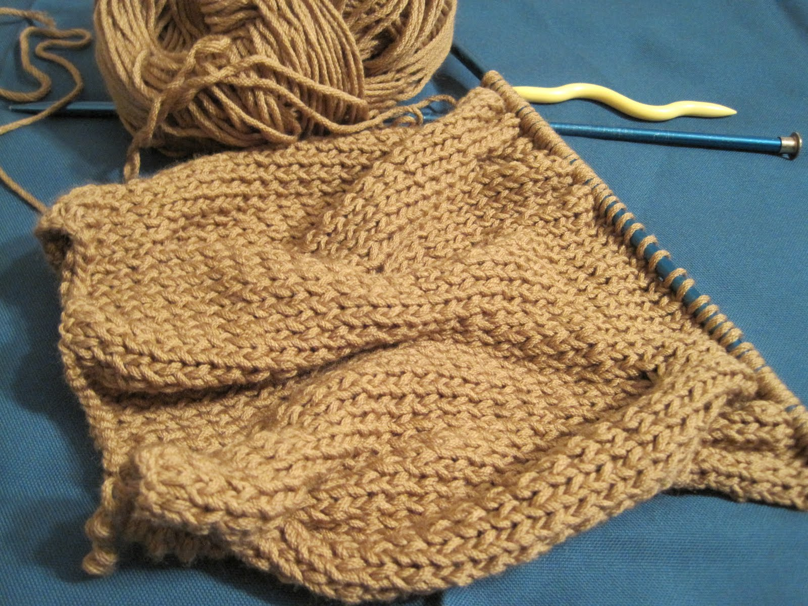 The Pickled Herring Half Cable Knit Cowl