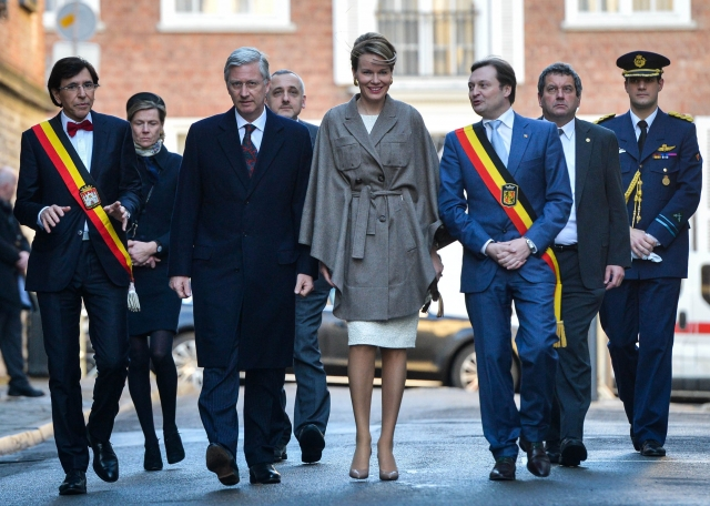 King Philippe of Belgium and Queen Mathilde of Belgium the opening ceremony of Mons 2015
