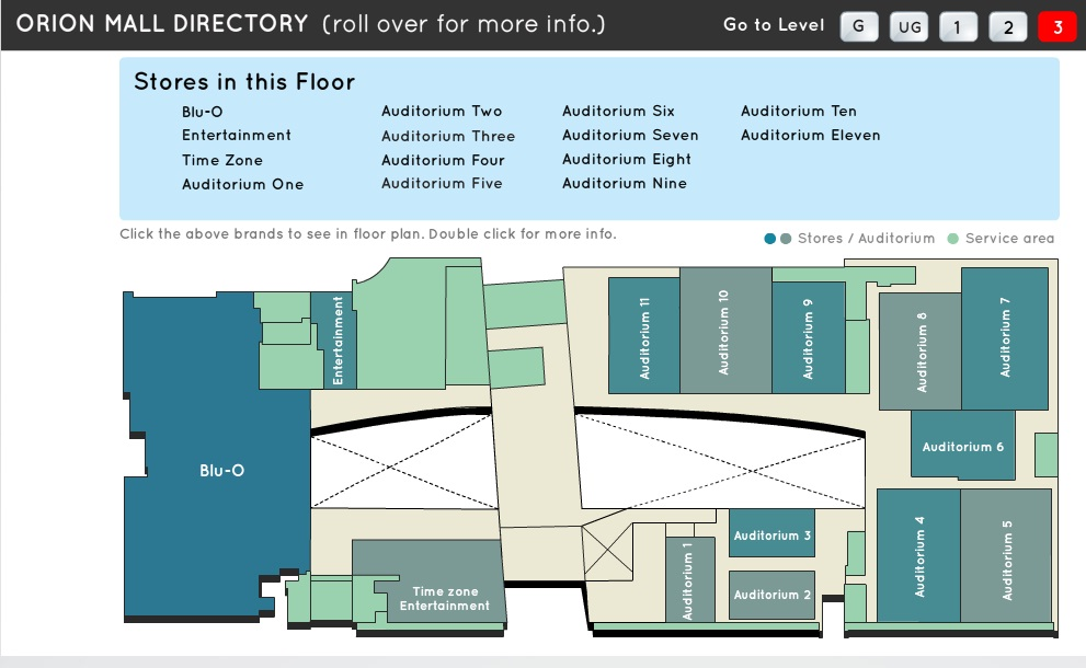 Orion mall directory for Floor plan com