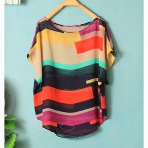 blusa rayas para gorditas verano 2014