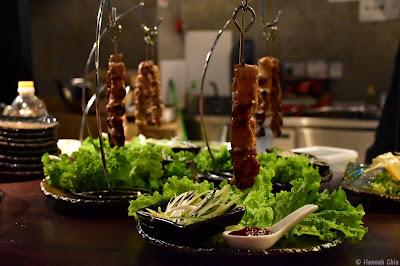 Chicken Warayaki with Special Spring Onion Sauce
