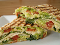 Tricolore Griddled Wrap