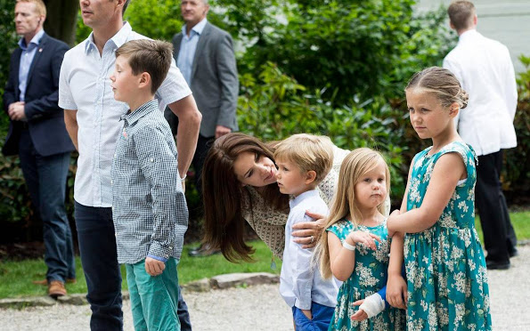 Danish Crown Prince Family At Annual Summer Photocall In Grasten