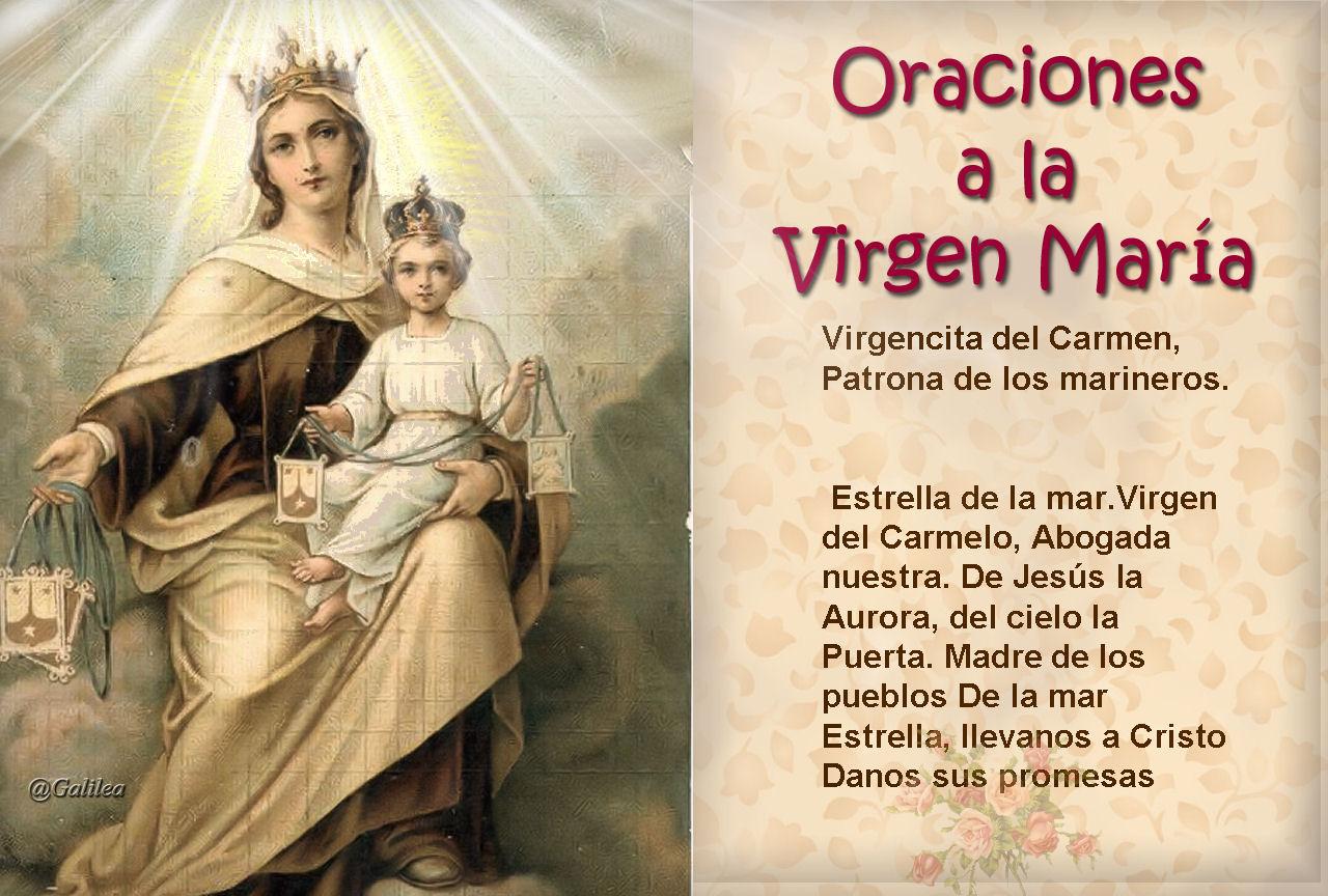 testimonios para crecer oracion a la virgen de carmen