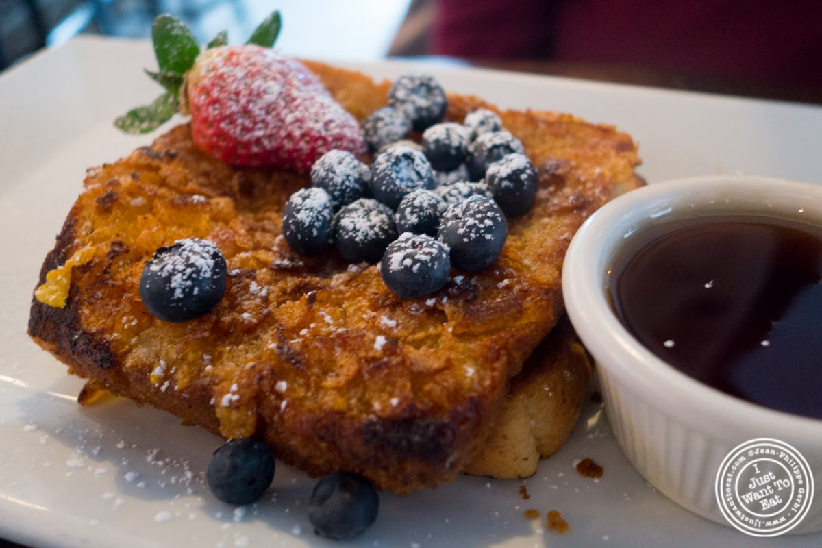 image of crunchy French toast at City Bistro in Hoboken, NJ
