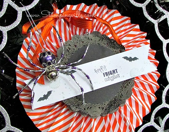 Halloween wreath rosette detail | Stampingville