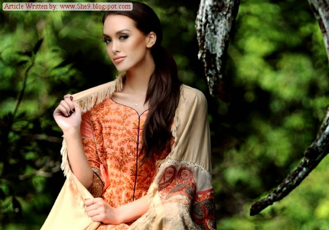 Firdous Marina Shawls Collection 2014-2015