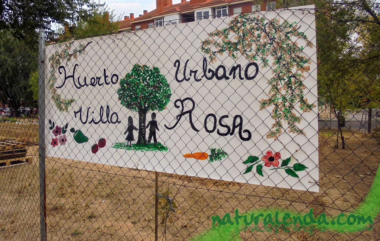 cartel del huerto de villa rosa