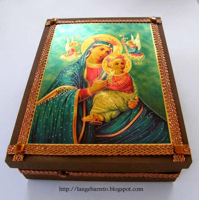 Caixa MDF Nossa Senhora do Perpetuo Socorro