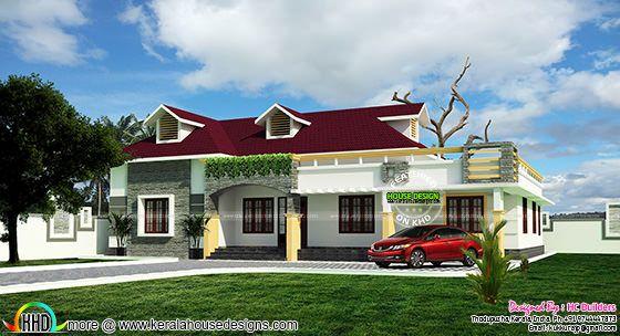 Single floor house plan by HC builders, Kerala