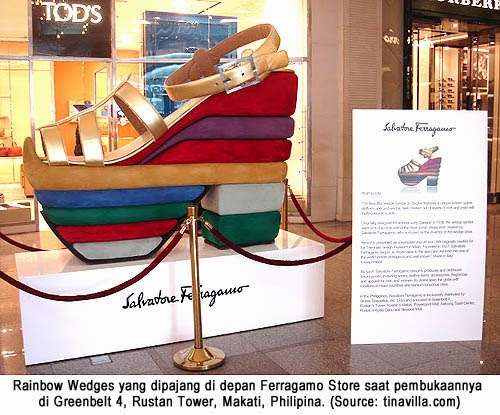 Rainbow Wedges Ferragamo Ikon