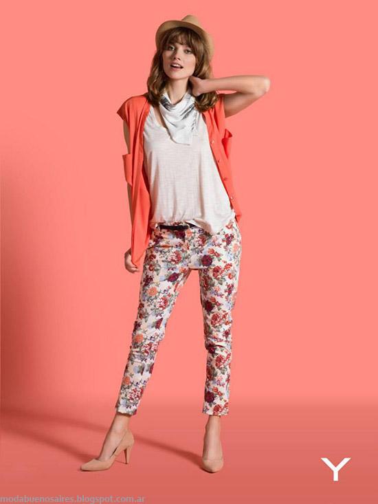 Yagmour primavera verano 2015 pantalones de moda 2015 estampados.