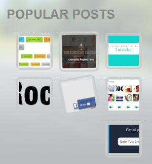 [Tips] - Popular Posts / Bài viết phổ biến ngang hiệu ứng xoay vòng cho Blogspot Blogger