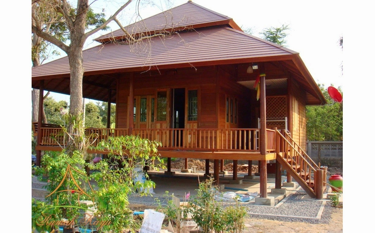 gambar rumah kayu minimalis modern desain cantik