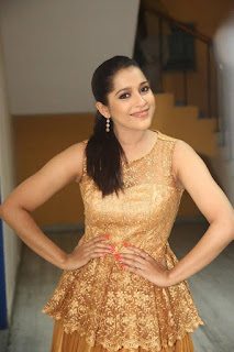 Actress Rashmi Pictures in Long Dress at tur Talkies Trailer Launch  007