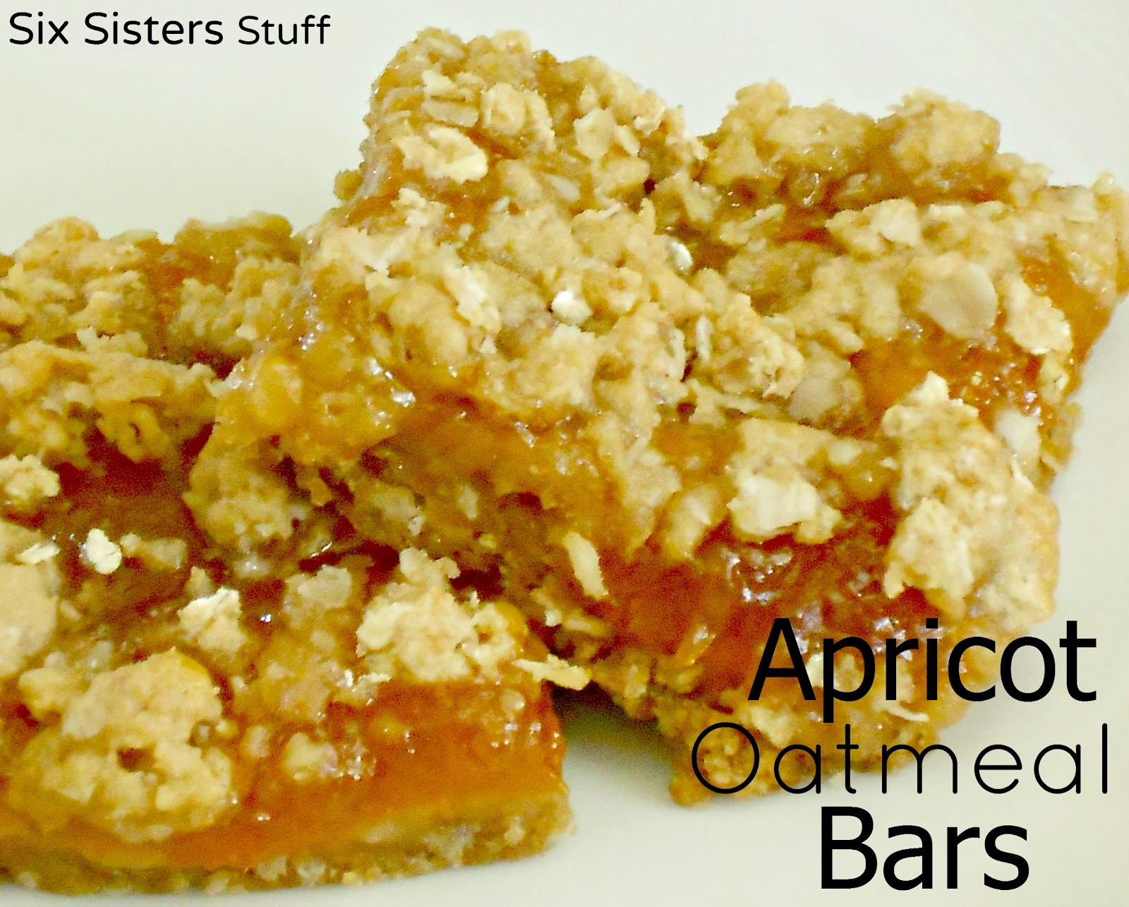 Healthy Meals Mondays: Apricot Oatmeal Bars | Six Sisters' Stuff