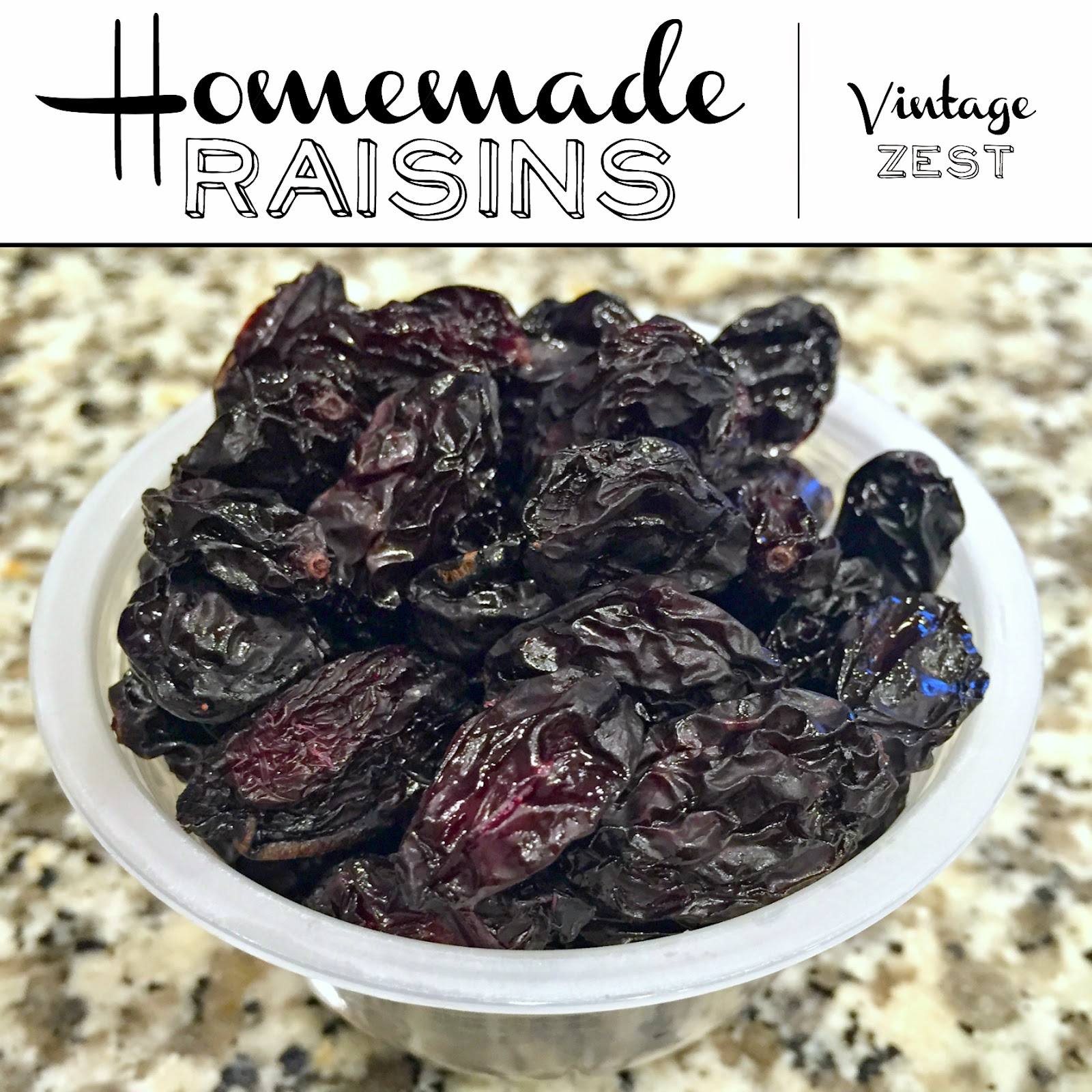 Homemade Raisins on Diane's Vintage Zest #recipe #food #healthy