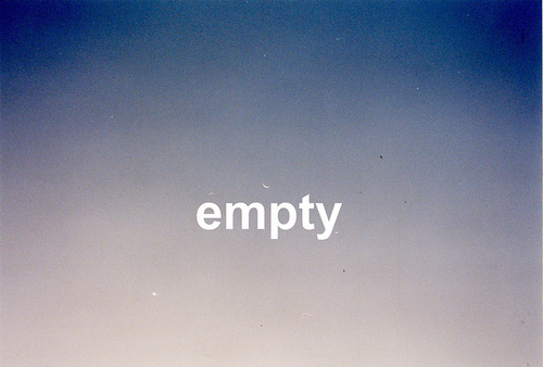 ich fühle mich leer