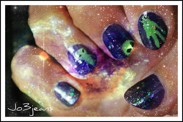 nailstorming, nail art, zone 51, roswell, E.T, au delà du réel, X-Files,