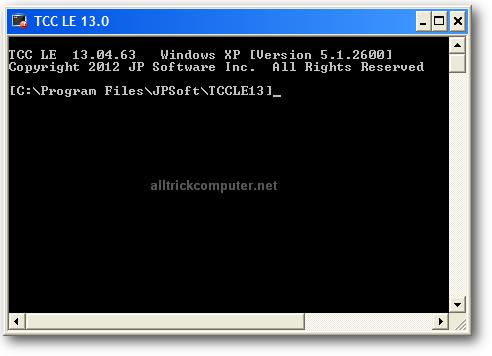 TCC/LE software pengganti command prompt
