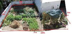 O tamanho d o quintal