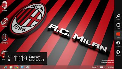 2013 Ac Milan Windows 8 Theme