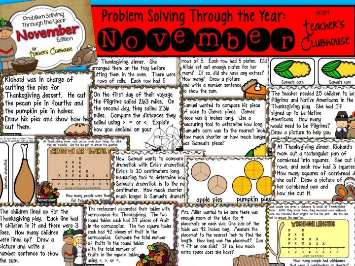 http://www.teacherspayteachers.com/Product/Problem-Solving-Through-the-Year-November-Edition-1505412