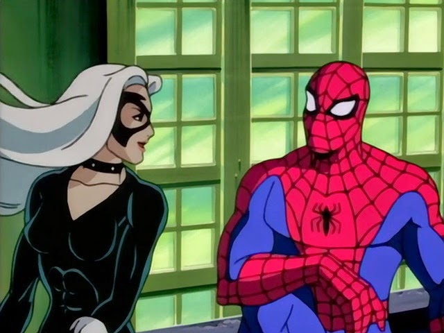 Black Cat Spiderman The Animated Series
