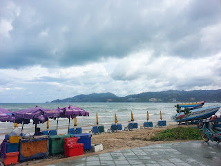Patong beach - speed boat launch