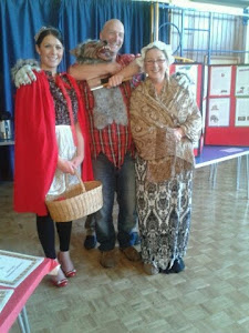 Maesybryn meets the characters from Little Red Riding Hood....