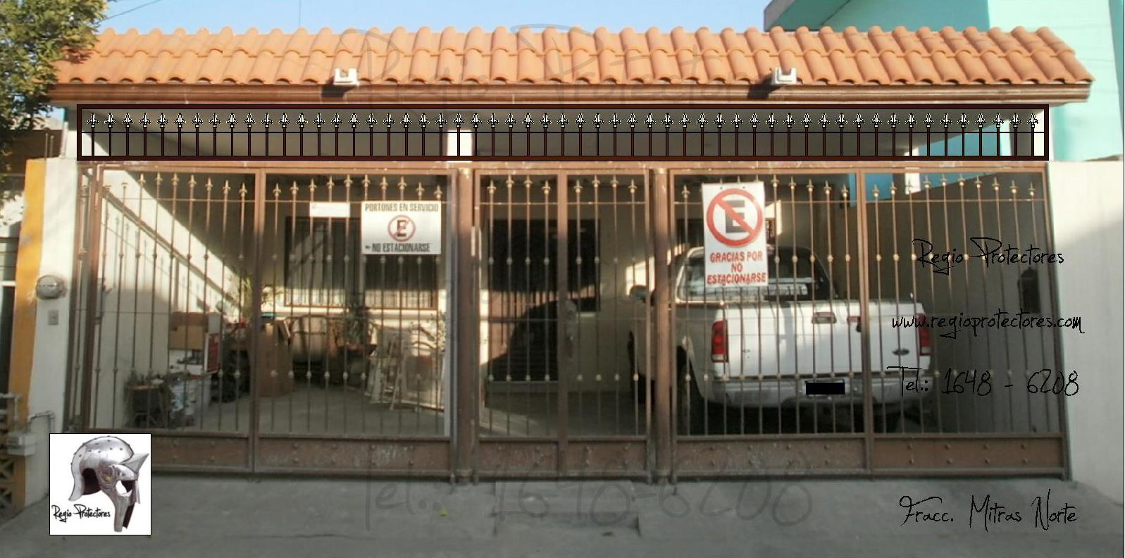 Tipos de rejas para casas puertas y portones car for Verjas para puertas
