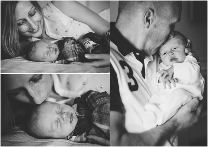 Mother and father with newborn son