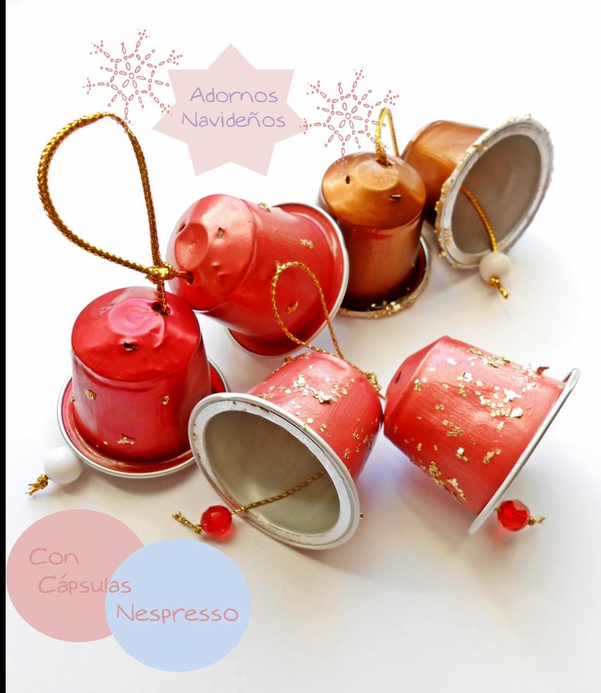 Pulsikiss adornos con capsulas nespresso - Adornos navidenos diy ...