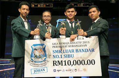 SMK Luar Bandar No.1 Sibu Johan Kebangsaan Liga Remaja Kreatif 2013