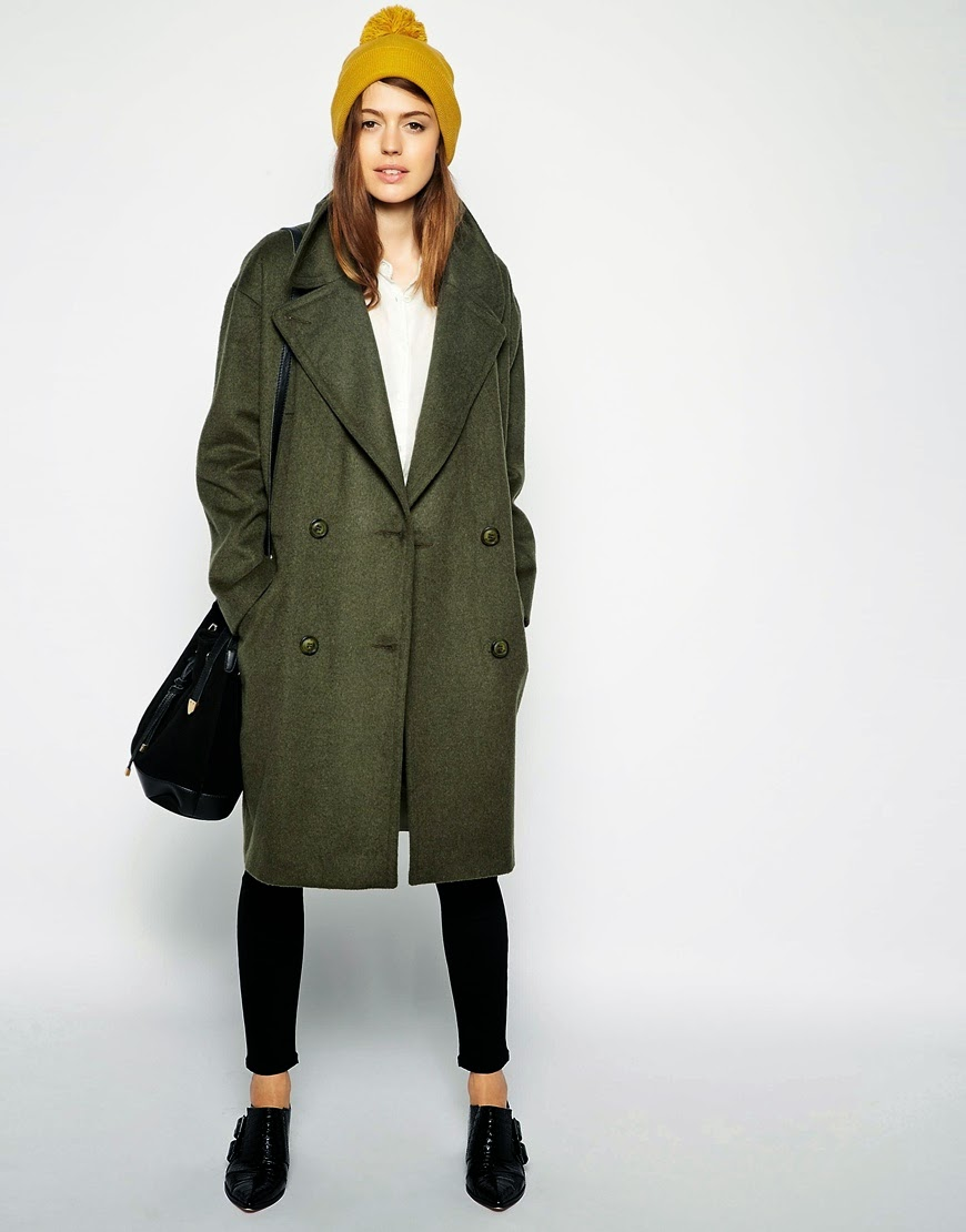oversized khaki coat