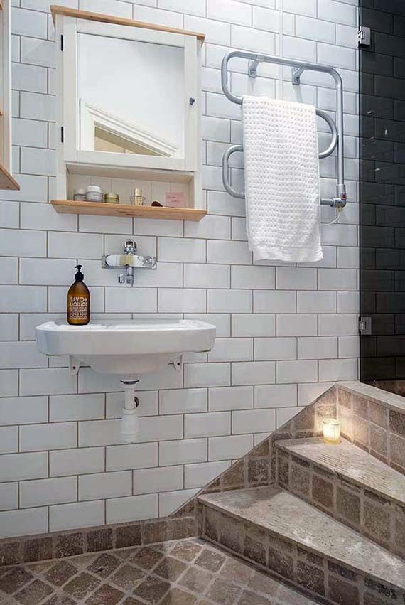 cozy bathroom even with small and narrow bathroom