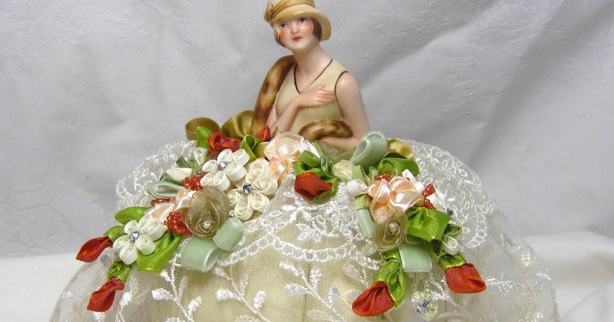 appel quilling garden half doll pincushion