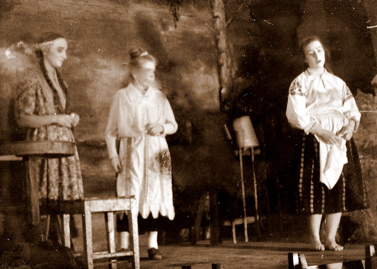 Valles dramatiskais kolektīvs Blaumaņa lugā ,,Trīnes grēki'' 1959. g. - 2
