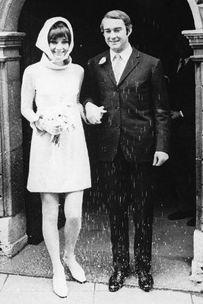 Audrey Hepburn il giorno delle sue nozze